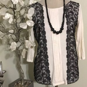 ANN TAYLOR LACED TOP